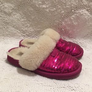 "4d51192d014 UGG "" Dazzle"" Sequin Slippers"